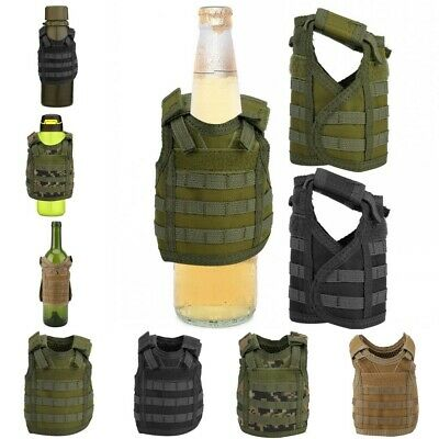 Mini Tactic Military Molle Vest for Soda Beer Bottle Can Beverage Cover Decor