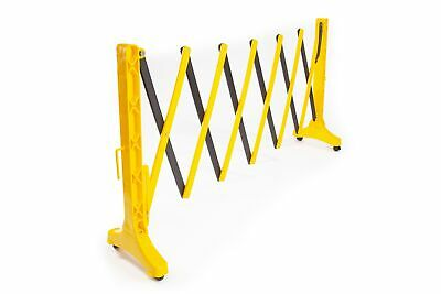 Plastic Expandable Barrier on wheels Black & Yellow (950mm x 420mm x 420mm - ...