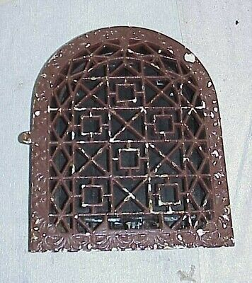 Vintage Gothic ornate cast iron GRATE register damper louvers cover 11 x 14