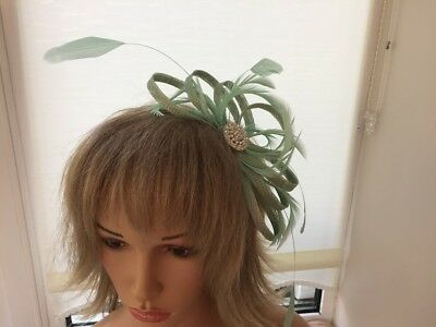 Mint Green  Sinamay/ Fascinator, Can Be Custom Made To Match Outfit, Weddings