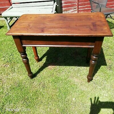 Small Victorian Pine Kitchen Table.