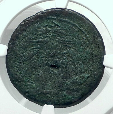 AUGUSTUS Authentic Ancient 38BC Genuine Original Roman Coin NGC Certified i78891