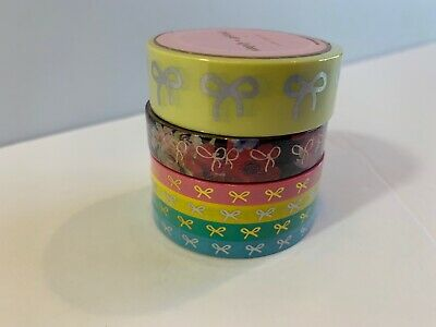 5 Rolls New In Package Simply Gilded Washi Tape