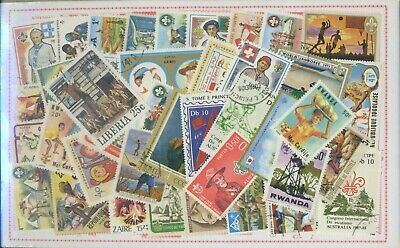 Boy Scouts  40 Francobolli  Tutti Differenti Lotto N. 2
