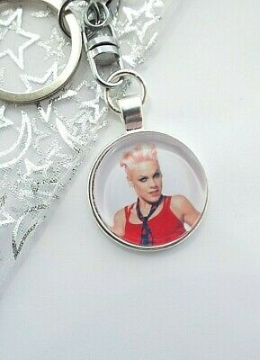 Pink Singer Photo Key Ring Strong Chain Swivel Chain  Gift Boxed