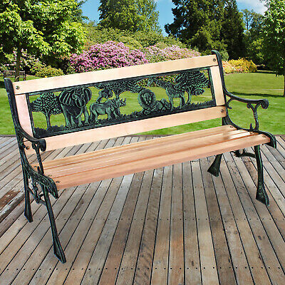 Remarkable Kids Bench Garden Outdoor Patio Furniture Wooden Metal Cast Short Links Chair Design For Home Short Linksinfo
