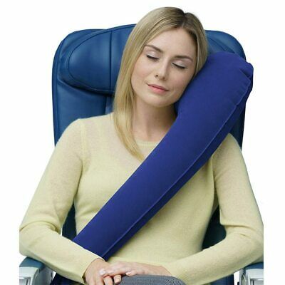 Inflatable Travel Pillow Folding Air Cushion Portable Car Seat Neck Rest Support