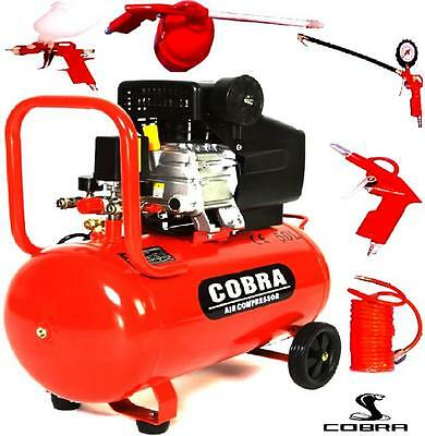 New Cobra 50L Liter Electric Air Compressor 9.6Cfm 2.5Hp 230V 115Psi Portable