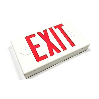 LPX60RWH Cooper Lighting/Sure Lites Polycarbonate Exit Sign, AC Only,120/277 VAC