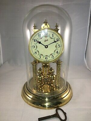 Vintage Schatz 400 Day Torsion Anniversary Glass Dome Clock