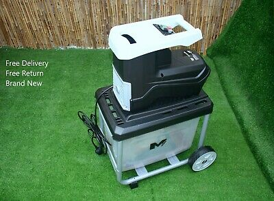 Electric Garden Branches Wood Timber Chipper Shredder Mulcher for 45mm Branch Uk