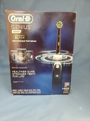 Oral-B Genius 8000 Electronic Toothbrush Midnight Black Edition New