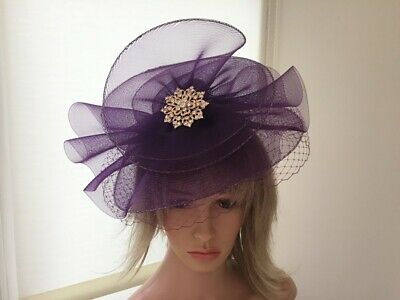 Grape/Purple & Gold  Hat /Hatinator /Can Be Custom Made To  Match Your Dress