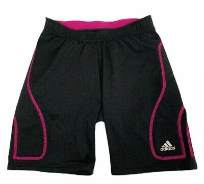 Adidas Climalite Girls Side Padded Shorts Youth XL Black Poly Spandex