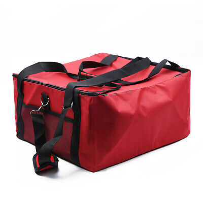 Insulated Pizza Delivery Bag Storage Holds 16 inch Red Oxford Cloth Useful Hot