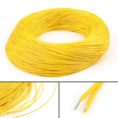 20M Yellow Flexible Stranded UL1007 26AWG Electronic Wire PVC Cable 300V ROHs C