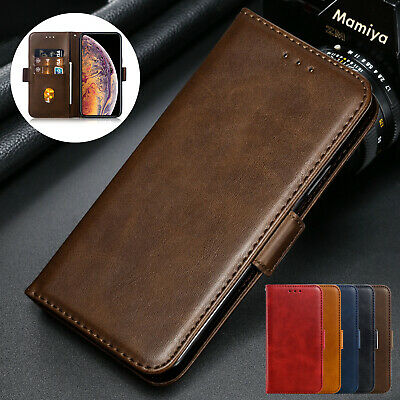 For iPhone 8 Plus 7 6 XS Max XR X Case Retro Magnetic Leather Wallet Flip Cover