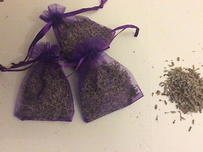 3 dried provence lavender in organza bags purple or white avail confetti throws
