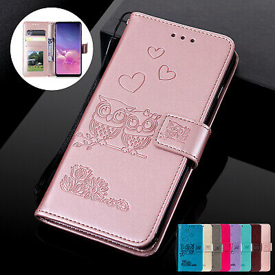 Fr Samsung Galaxy S10 5G A30 A50 A70 Case Owl Magnetic Leather Wallet Flip Cover
