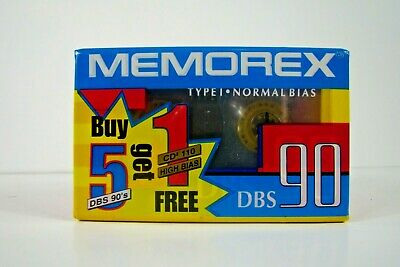 MEMOREX dBS 110 PREMIUM NORMAL POSITION TYPE I BLANK AUDIO CASSETTE 1989