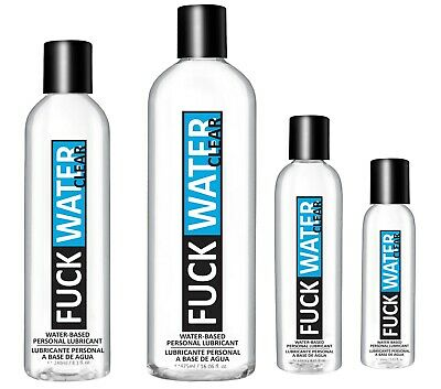 F*ck Water Clear Water Based Lubricant - Choose Size