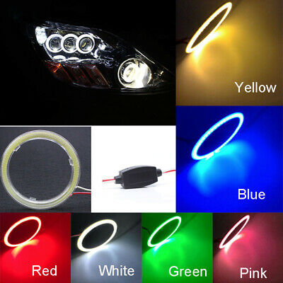w/ Cover LED Halo Ring 1x 70mm 80mm 90mm Super Bright Light High Quality