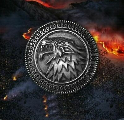 Game Of Thrones Stark Wolf Dragon Badge Pin Coin Metal Collectible Gift Present