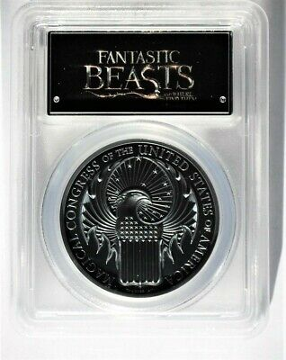 Fantastic Beasts $5 Cook Islands 1 oz. .999 Black Silver PCGS PR70DCAM FS