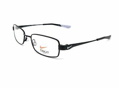 4be829a02051 NIKE Eyeglasses 4637 006 Matte Black-Pure Platinum Rectangle Men's 48x17x130