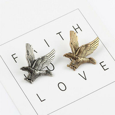 Unisex Vintage Suit Accessories Chic Flying Eagle Brooch Scarf Pin Trinkets MP