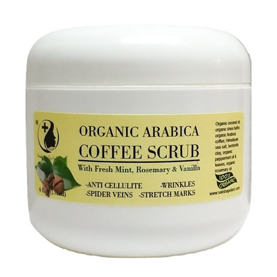 Exfoliating Arabica Coffee Scrub With Shea, Mint And Rosemary