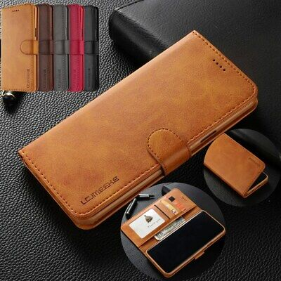 Fr Samsung S10 5G A30 A50 Note 9 A8 2018 Case Flip Wallet Leather Magnetic Cover