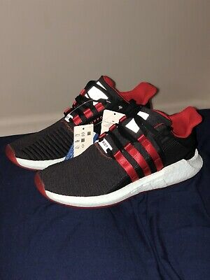 dcb42d49eee ADIDAS EQT SUPPORT 93/17 Yuanxiao Mens DB2571 Black Red Running ...