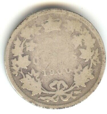 Canada 1900 .925 Silver 25 Cent Canadian Quarter EXACT COIN PICTURED SEMI KEY