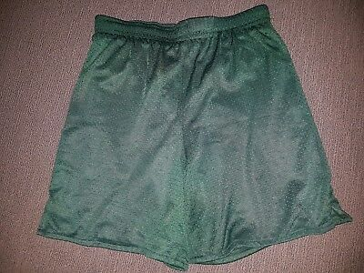 Kids boys/girls bottle green basketball school uniform shorts ... size 14