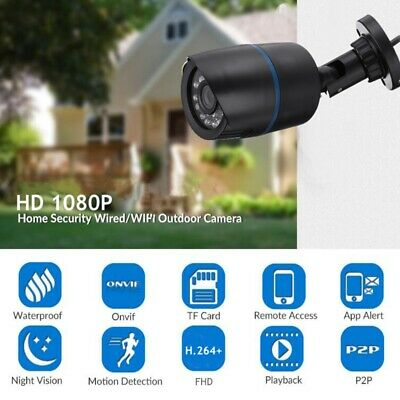 AUGIENB 720P WIFI Onvif IP Camera Wireless Night Vision Outdoor Security Motion