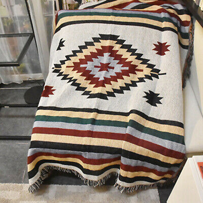 Vintage Tapestry Art Wall Hanging Sofa Table Bed Cover Home Decor Floor Blanket