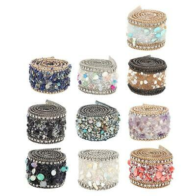 1M Sewing Beaded Sequin Wedding Bridal Applique Band Trim Ribbon Luxury New