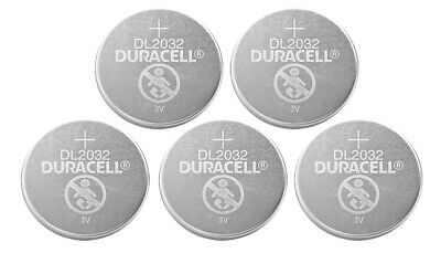 5*Duracell CR2032 DL2032 3v Lithium Battery Coin Cell