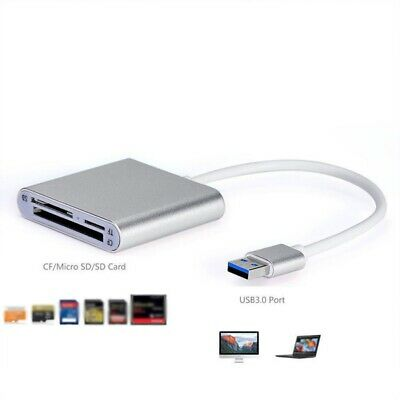 3 in1 Type-C USB to SD-/TF Micro-SD/CF Memory Card Reader for MacBook Pro