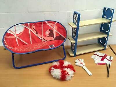 Child's Bedroom England Football Lot Chair Shelving Flags