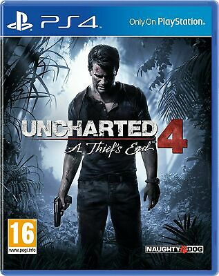 Uncharted 4: A Thief's End (PS4 PLAYSTATION 4 VIDEO GAME) *NEW* FREE P&P