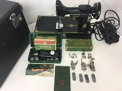 Singer Featherweight 221K 1951 Electric Sewing Machine Made In Great Britain