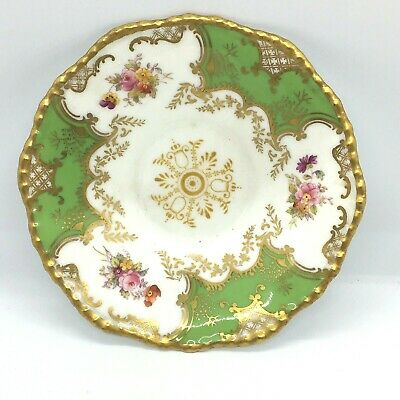 Antique COALPORT Batwing GREEN  Saucer  Old Mark Replacement Piece