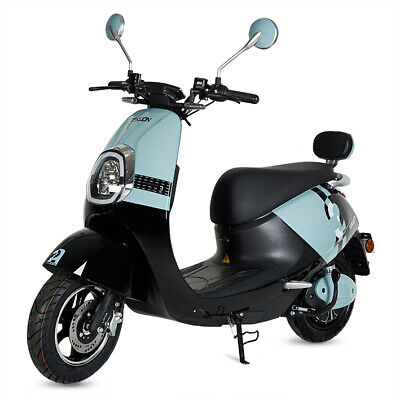 Moto scooter electrica matriculable vespa 800w bateria matricula color azul