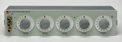 GR General Radio 1433T 5-Dial Resistor 1,111.1 ohms .01 ohm/st 0.01% accy 1433-T