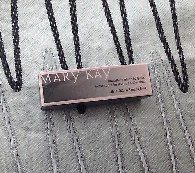 New In Box Mary Kay Nourishine Plus Lip Gloss Beach Bronze Full Size ~Fast Ship