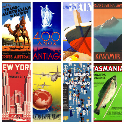 TRAVEL POSTERS V2 A4 A5 Wall Decor Cafe Bar Shop Kitchen Bathroom Poster Prints