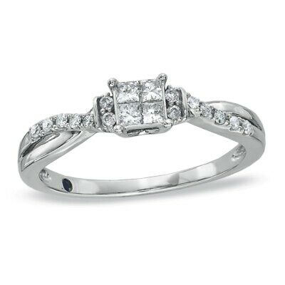 Gorgeous 925 Silver White Sapphire Ring Women Engagement Wedding Band Jewelry