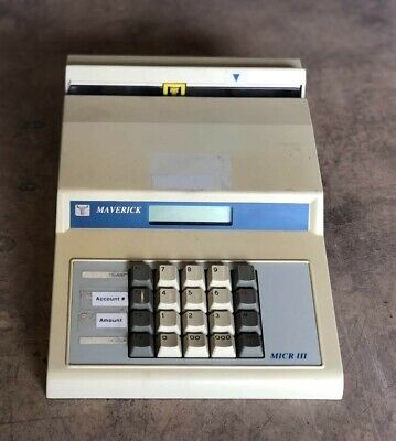 Maverick International Micr Iii M310 Bank Check Encoder